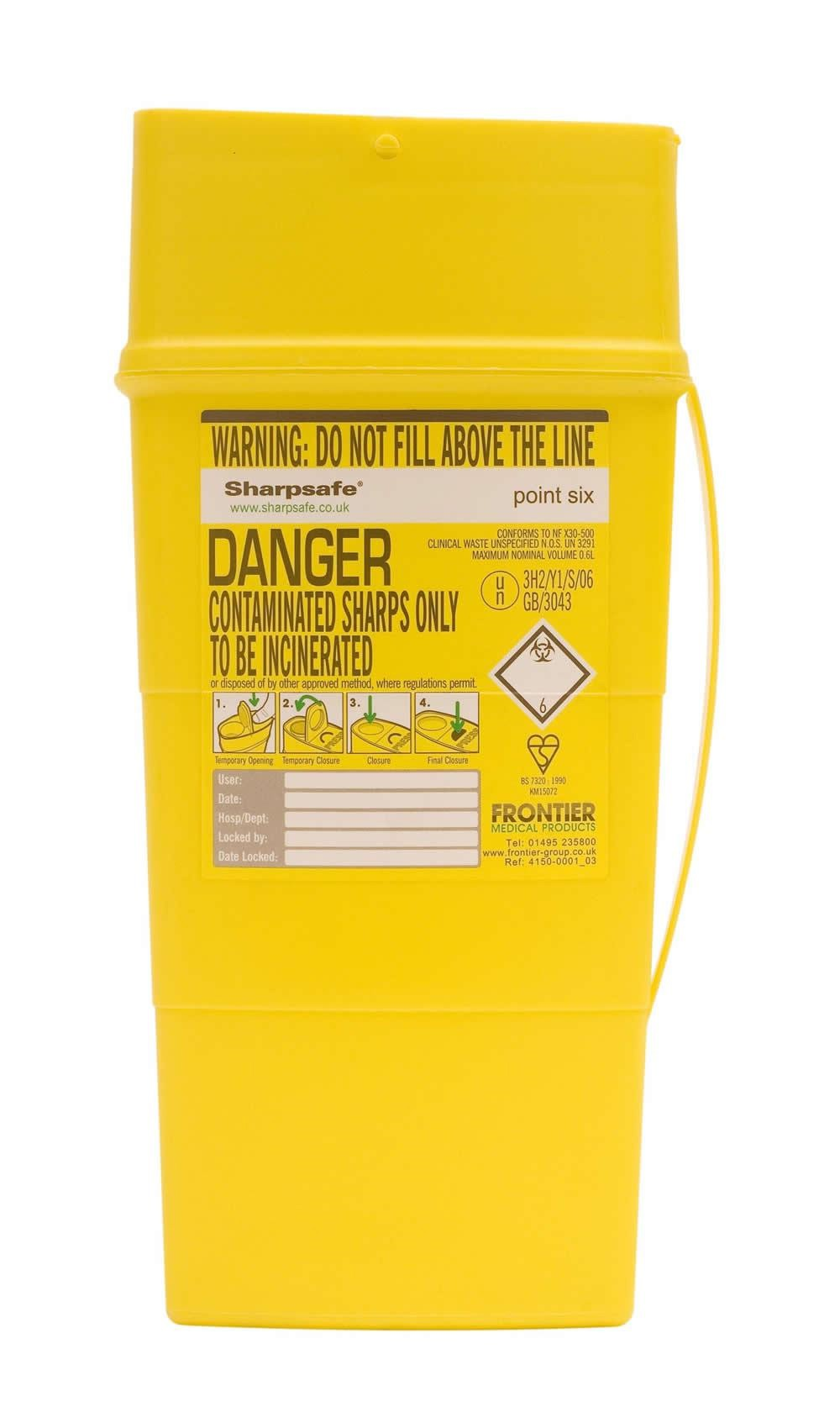 Portable Sharps Container 0.6l