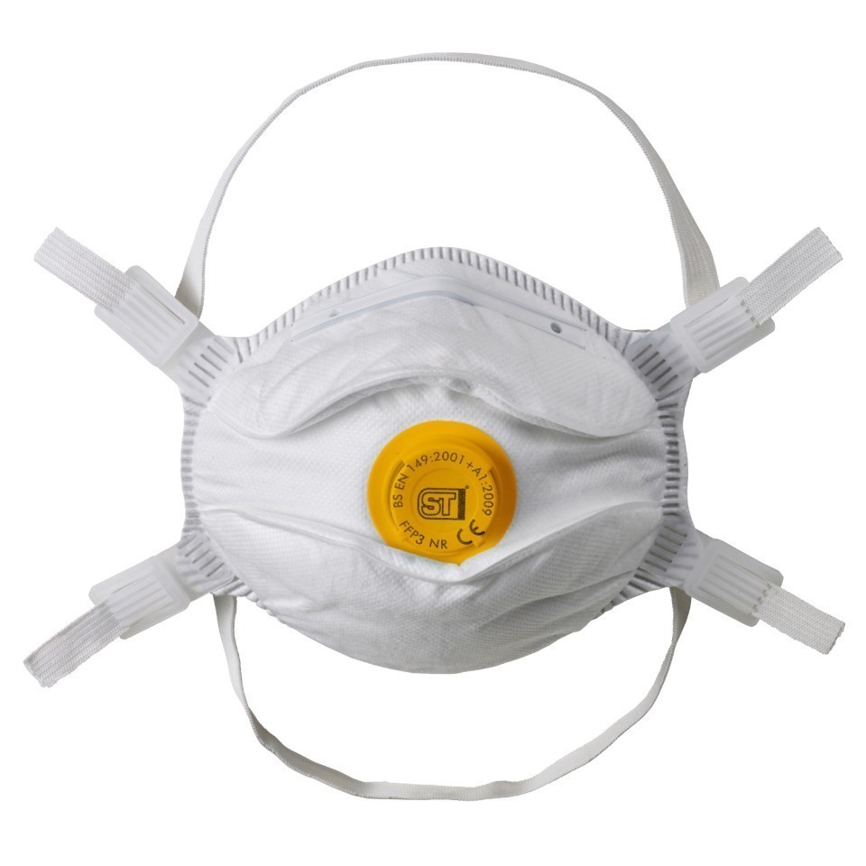 FFP3 Facemask With Valve Conforming to EN149:2001 Box of 10