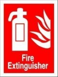 Fire Extinguisher Sign - photoluminescent 15cm x 20cm