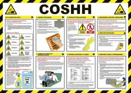 COSHH Safety Poster - laminated 59cm x 42cm