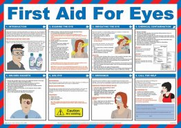 First Aid For Eyes Poster - laminated 59cm X 42cm