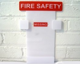 Fire Safety Log Book Holder for wall hanging