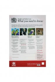 Health and Safety Law Poster New A3 Size