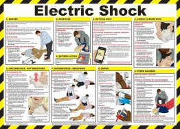 Electric Shock Treatment Guide Poster - laminated 59cm X 42cm