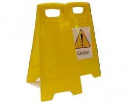 Free Standing Floor Sign A Frame Yellow High Impact Polypropylene