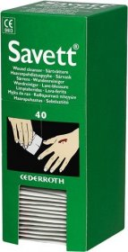 Cederroth Savett Sterile Saline Wipes Refill (40)