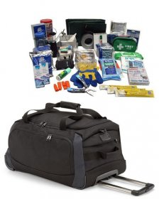 Earthquake Disaster Survival Kit In Wheeled Bag