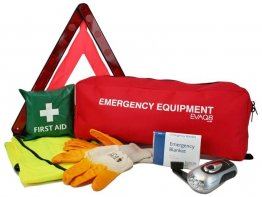 Car Safety Pack with Triangle, First Aid, PPE and Torch