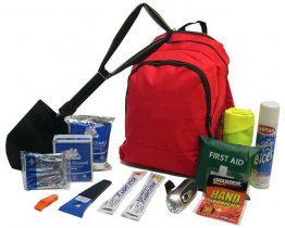Winter Car Emergency Survival Kit in Plain Rucksack