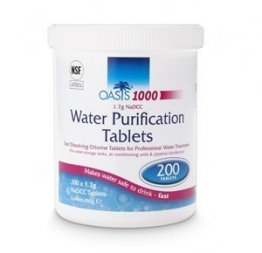 Oasis 1000 Tank Water Purification Tablets 200 x 1.7g