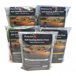 Ration-X 5 Self-Heating Ready to Eat Meals MREs