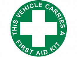 Vehicle First Aid Kit Windscreen Sticker