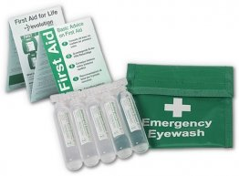 Eyewash Belt Wallet with 5 x 20ml eyewash pods