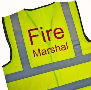 Fire Marshal Vest High Visibility Identification Vest