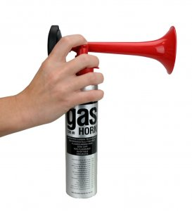 gas horn for fire safety