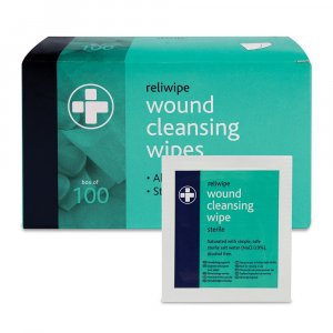 Wound Cleansing Wipes in Dispenser