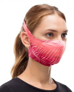 Buff fabric mask with replaceable filters