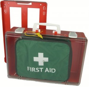 Portable First Aid Kit in Outdoor Cabinet