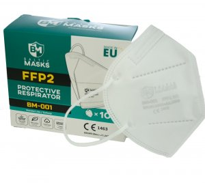 FFP2 respirator with ear loops