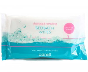 Rinse Free Bedbath Bed Bathing Wipes Pack of 8 Wipes