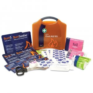 Burns First Aid Kit in Wall Mountable Box