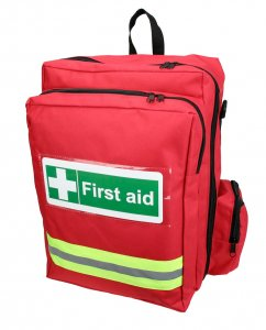 red first aid rucksack