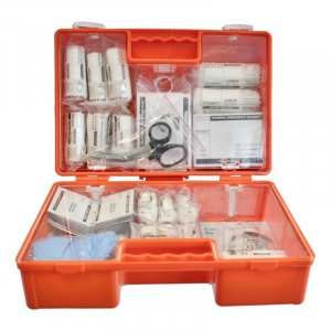 British Standard Orange First Aid Box BS 8599-1 Medium