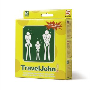 Travel John Vomit and Urine Bags Pack of 5