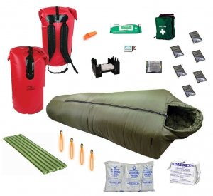 Personal Winter Survival Kit in Waterproof Bag