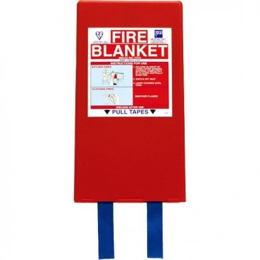 Large Fire Blanket in Mounting Case 180cm x 120cm