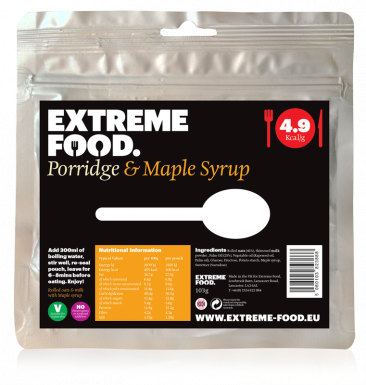 Freeze Dried Porridge with Maple Syrup