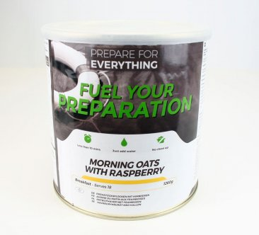 Freeze Dried Tin Morning Oats With Raspberry